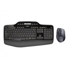 LOGITECH Wireless Desktop MK710 -  Ergonominen langaton näppäimistö- ja hiiri - 2.4 GHz - Pohjoismaat